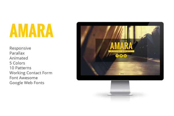 Amara Animated One Page Template