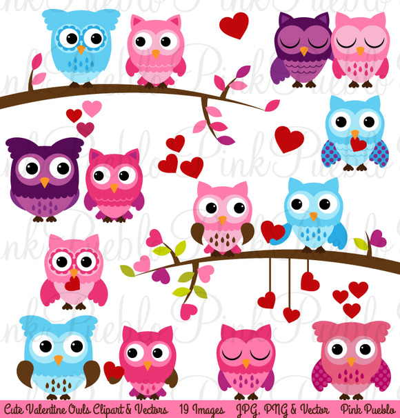 Valentine S Day Owl Clipart Vector