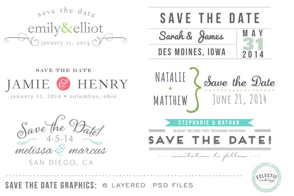 Save The Date Overlays Layered Psd
