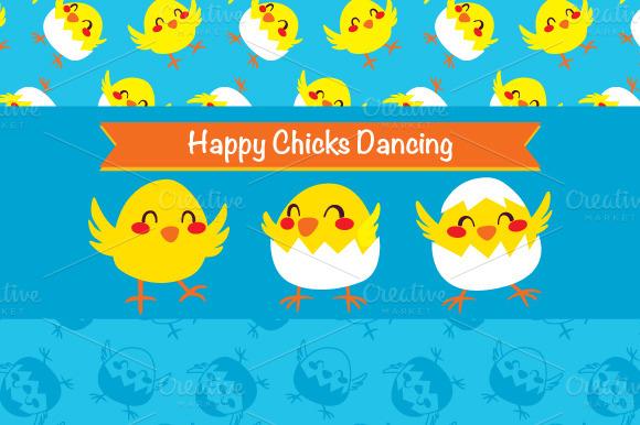 Happy Chicks Dancing