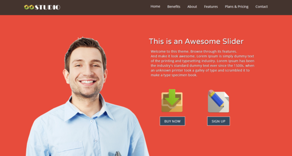 Studio One Page HTML5 Template