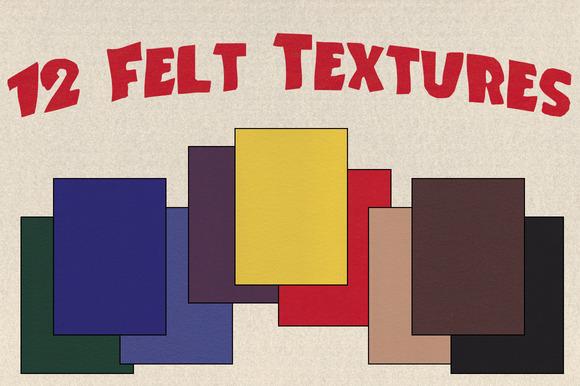 12 Felt Textures