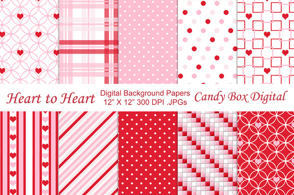 Heart To Heart Valentine Papers