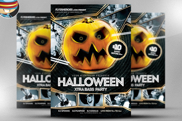 Halloween Nightclub Flyer Template