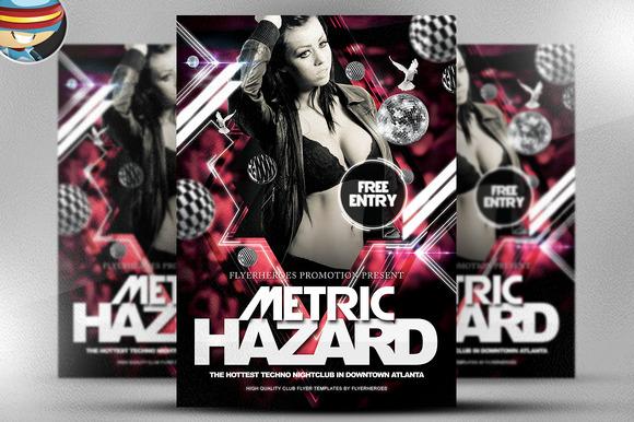 Metric Hazard Nightclub Flyer