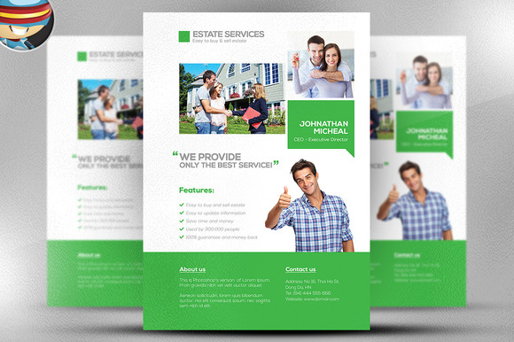 Real Estate Services Flyer Template