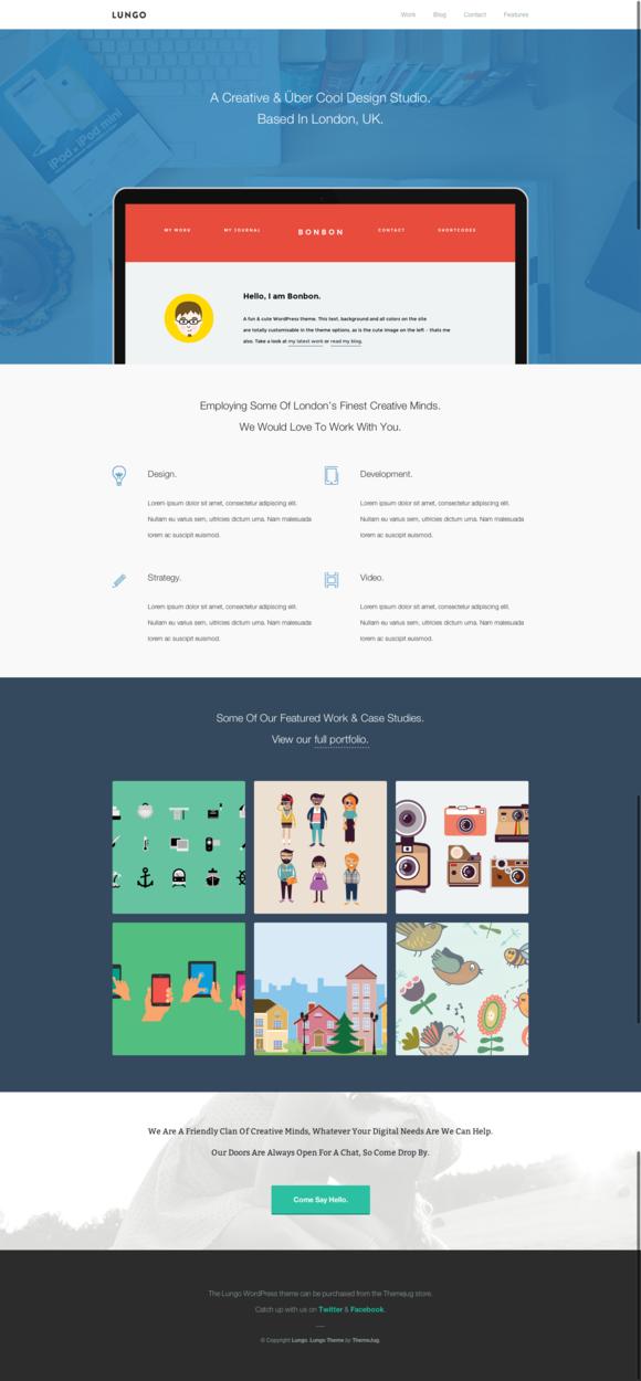 Lungo Agency WordPress Theme