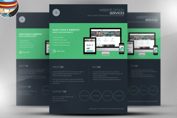 Dark Web Design Services Flyer