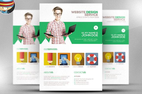 Flat Style Web Designer Flyer