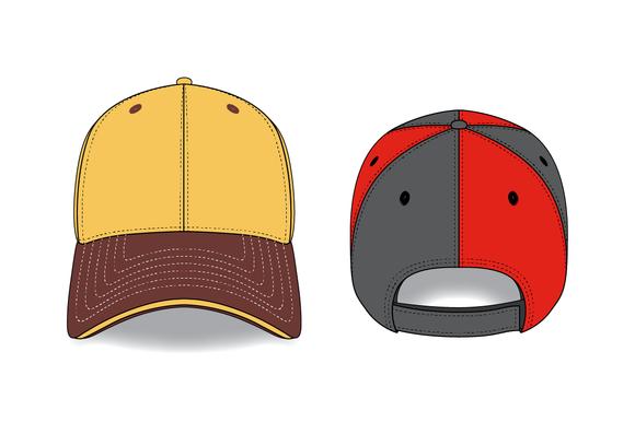 6 Panel Hat Mockups