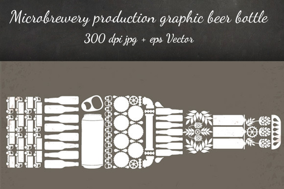 Microbrewery Production Beer Bottle