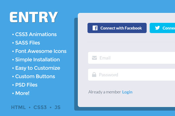 ENTRY Responsive Animated Logins