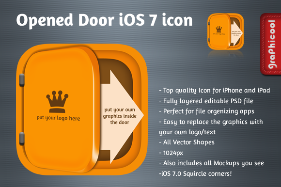 IOS 7 App Icon Opened Door