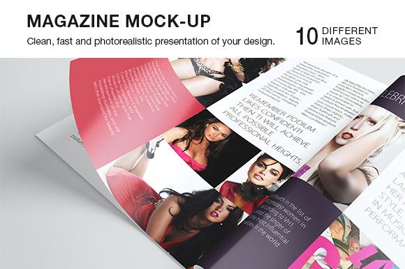 Photorealistic A5 A4 Magazine Mockup