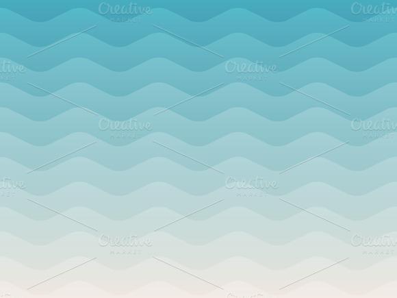 3 Sea Geometric Backgrounds