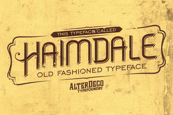 Haimdale Typeface