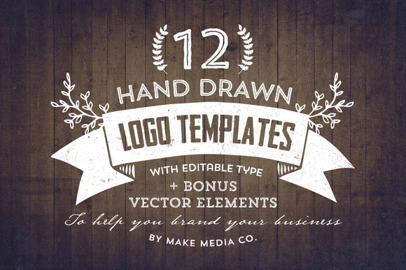 Hand Drawn Logos Elements Vol 1