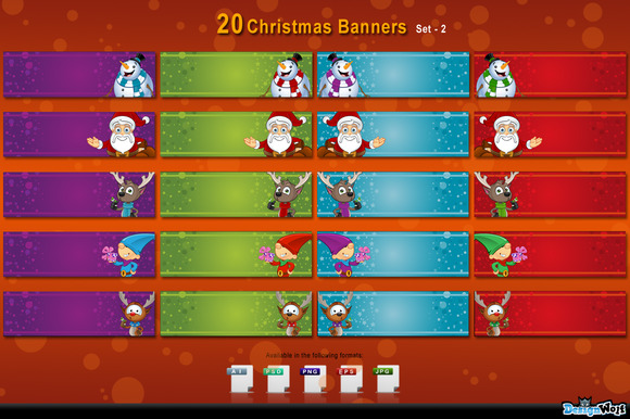 20 Christmas Banners Set 2
