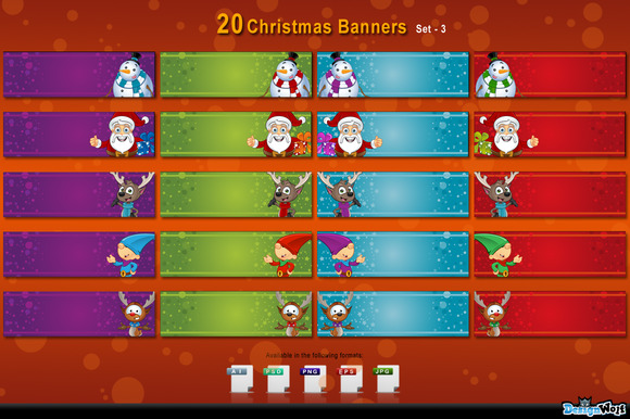 20 Christmas Banners Set 3