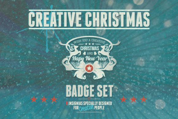 Creative Christmas Badge Set