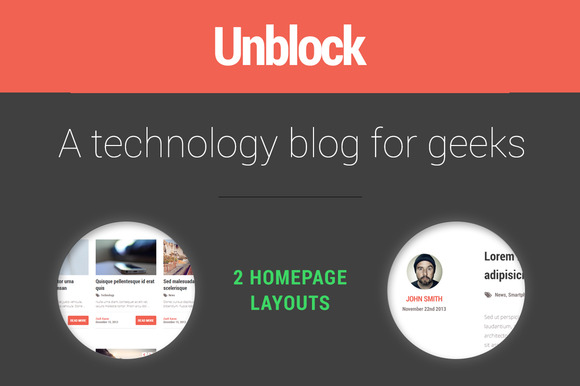 Unblock Ghost Theme 2 Layouts