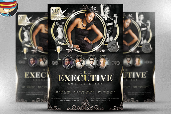 The Executive Lounge Flyer Template