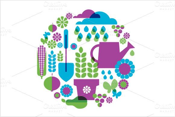 Garden Vector Backgrounds