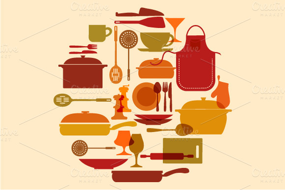 Kitchenware Vector Set