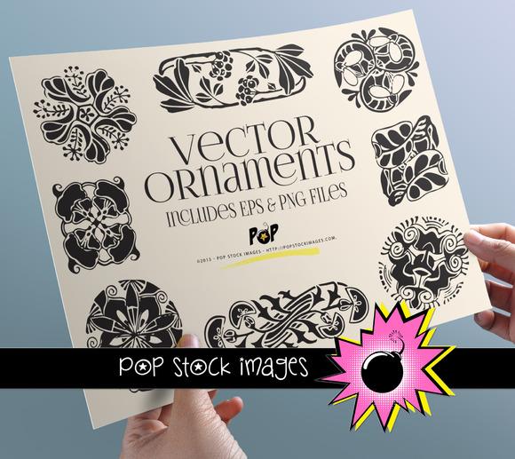 Art Nouveau Ornaments PNG EPS