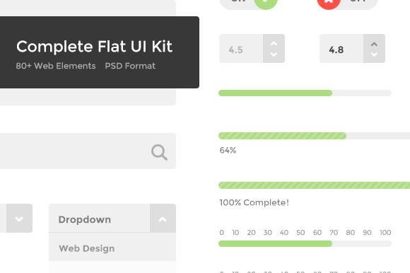 Complete Flat UI Kit