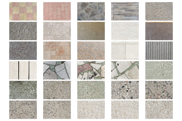 33 Textures With Pavement And Tiles
