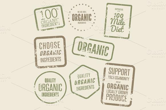 8 Organic Ingredients Stamps Vol 1