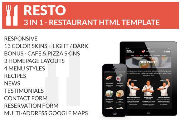 RESTO 3 Restaurant HTML Templates