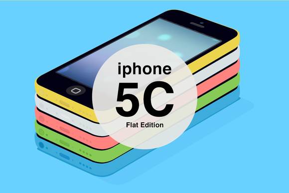 IPhone 5C Flat Edition Mockups