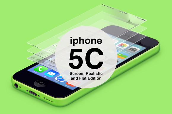 IPhone 5C Floatin Screen Mockups