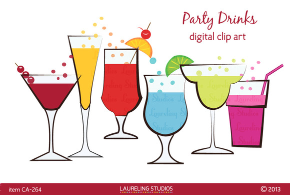 Party Drinks Clip Art