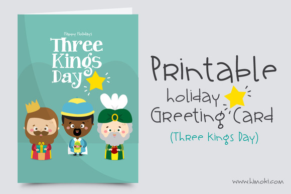 Greeting Card Three Kings Day