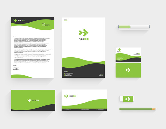 Pixelfish Corporate Stationery
