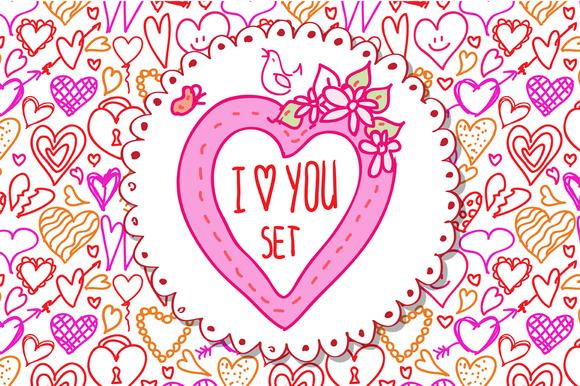 I Love You Doodle Set