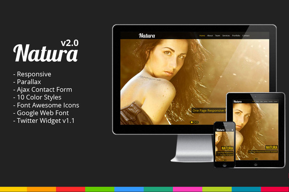 Natura One Page Parallax Template