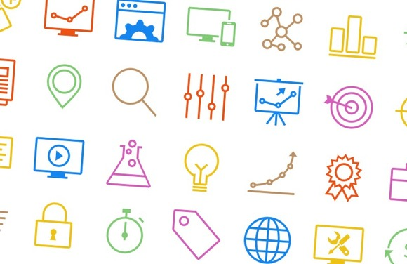 SEO Icons Vector Outlined