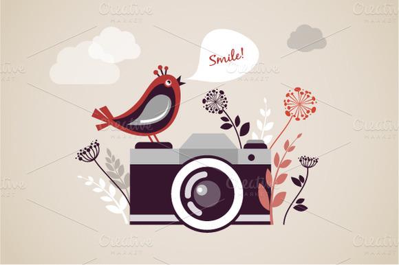 Vintage Camera Vector Illustration