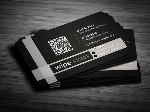 Black Clean Business Card