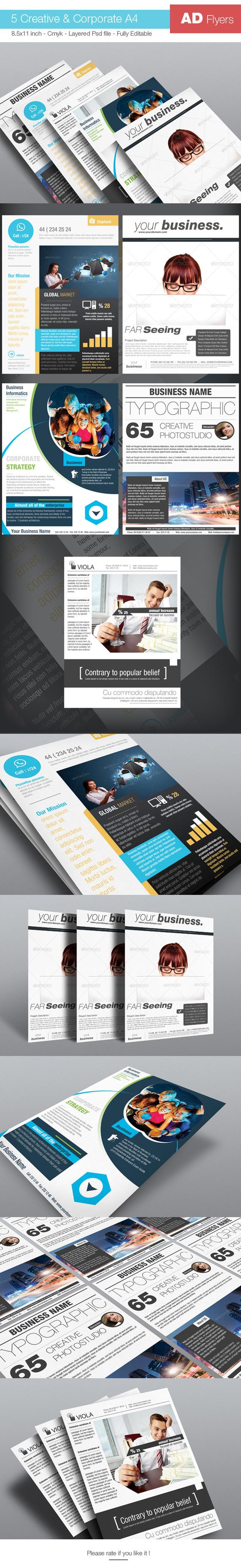 5 Creative AD Flyer BUNDLE