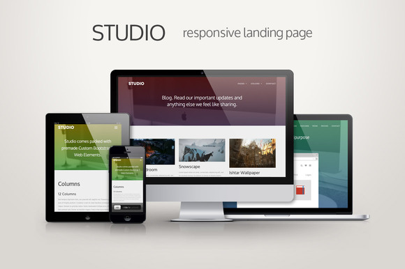 Studio Responsive Landing Page