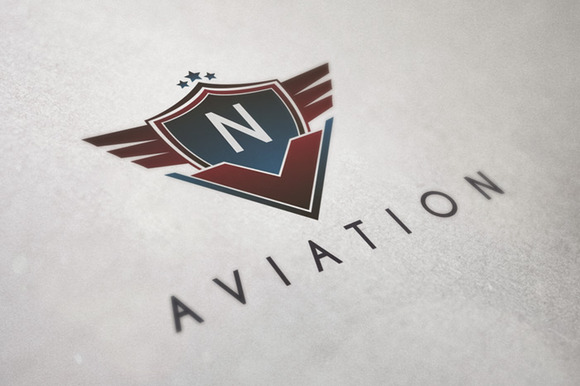 Aviation Badge Logo