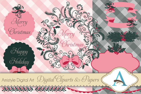 Christmas Wreath Clipart And Paper S