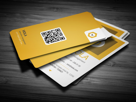 Orange Premium Business Card