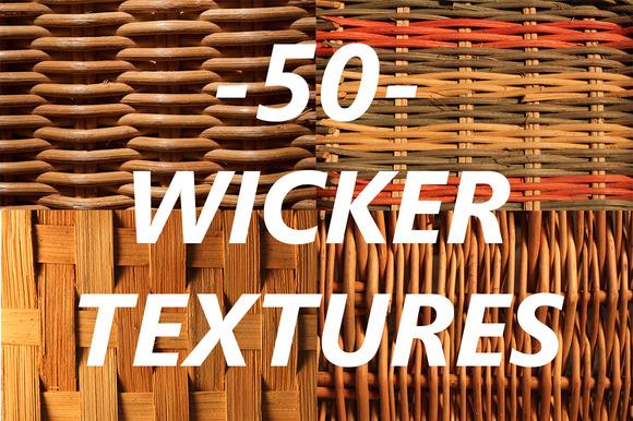 50 Wicker Textures
