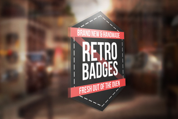 Colored Retro Badges